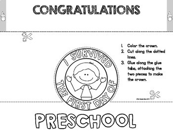 I Survived the First Day {and Week} of Pre-K/Preschool Crowns