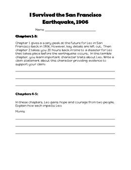 I Survived the San Francisco Earthquake, 1906: Let's Read! (Rdg. Resp. Pk. GR S)