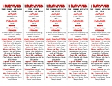I Survived the Shark Attacks of 1916 ed. of Bookmarks Plus: Handy Reading Aid!