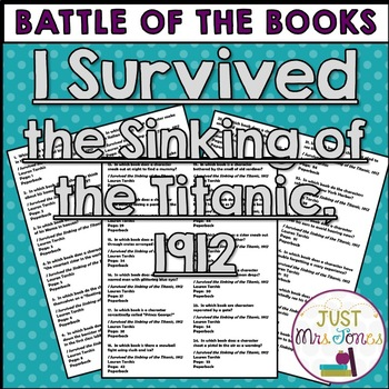 I Survived the Sinking of the Titanic Battle of the Books Trivia Questions