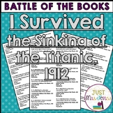 I Survived the Sinking of the Titanic, 1912 Battle of the Books Trivia Questions