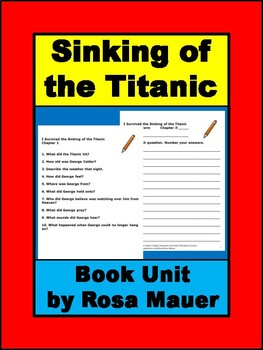 I Survived the Sinking of the Titanic Book Unit