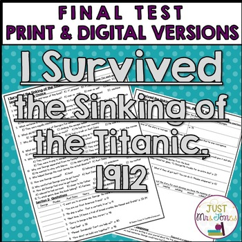 I Survived the Sinking of the Titanic Final Test