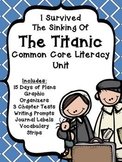 I Survived the Sinking of the Titanic Literacy Unit- Plans,Tests,and More!
