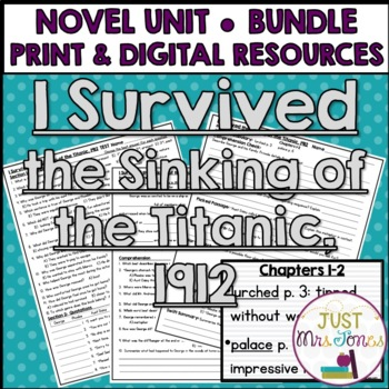 I Survived the Sinking of the Titanic Novel Unit