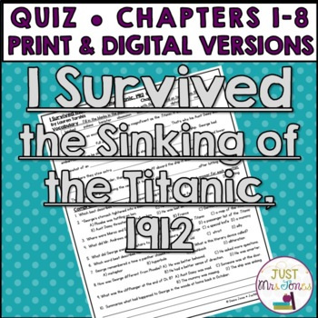 I Survived the Sinking of the Titanic Quiz