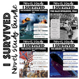 I Survived..Lauren Tarshis Novel Studies (Gettysburg, Titanic & Pearl Harbor)