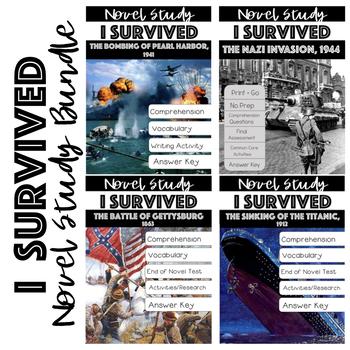 I Survived..Lauren Tarshis Novel Studies (Gettysburg, Titanic & Pearl Harbor)