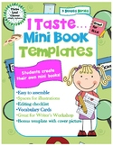 I Taste Mini Books Template - with Vocabulary Cards - 5 Senses