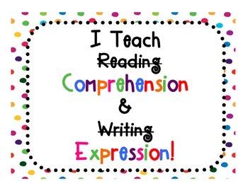 FREEBIE! I Teach Comprehension and Expression!