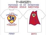 """I Teach Junior High: What's Your Superpower?"" T-Shirt Design"
