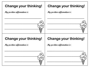 I Think, I Am: Positive Affirmations {Growth Mindset Mentor Text}