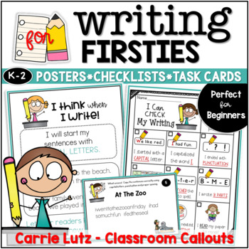 I Think When I Write Editing Teaching Points Posters, Editing Checklist & More