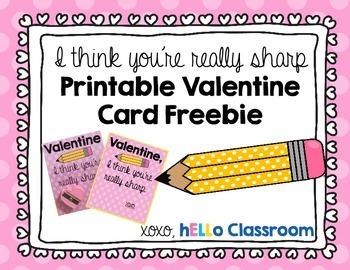 I Think You're Really Sharp Printable Valentine Freebie