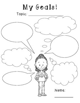 I Think and I Wonder Thought Bubble Graphic Organizers: 1st-6th Grades