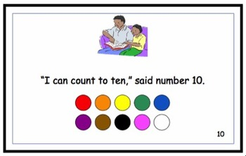 I Tie my Shows - a number 1 to 10 printable
