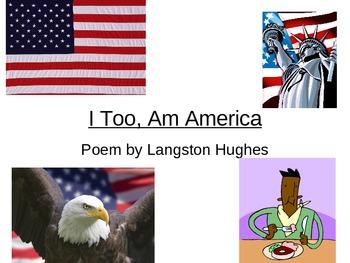 POEM: I Too, Am America  by Langston Hughes