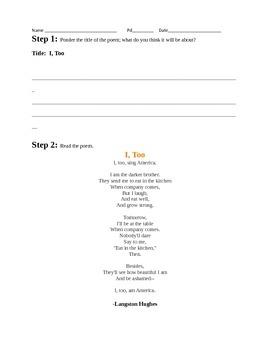 """""""I, Too"""" by Langston Hughes - Harlem Renaissance Poem Analysis"""