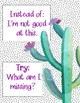 I Try Cactus Themed Growth Mindset Posters