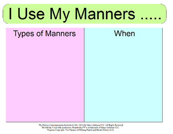 I Use My Manners