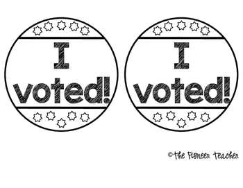 """I Voted!"" Blank Campaign Buttons"