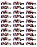 I Voted! Printable Election Stickers for Mailing Labels