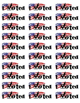 picture relating to I Voted Stickers Printable called I Voted! Printable Election Stickers for Mailing Labels