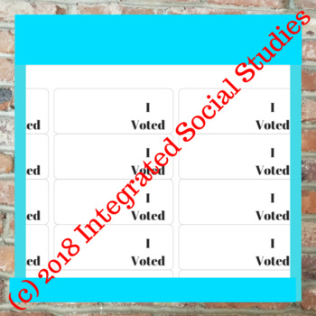 I Voted Stickers: Blank