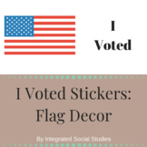 I Voted Stickers: Flag Decor