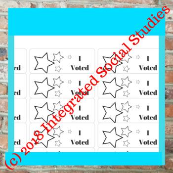 I Voted Stickers: Stars Decor