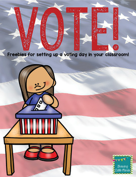 image about I Voted Stickers Printable titled \