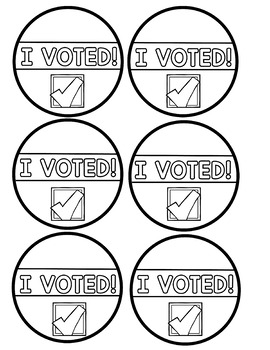 """""""I Voted"""" stickers and other freebies!"""
