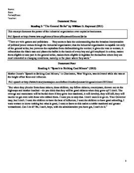 I.W.W. Progressive America - U.S. History Common Core