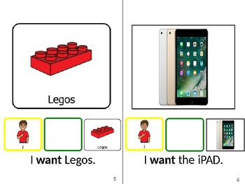 I WANT - Adapted book Core 40 Vocabulary