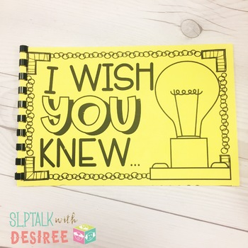 I WISH YOU KNEW - Relationship Building Communication Notebook