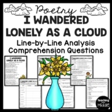 I Wandered Lonely As A Cloud Poem Reading Guide, Comprehension, Personification