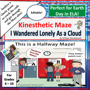 I Wandered Lonely as a Cloud Kinesthetic Maze (Perfect for Earth Day!)
