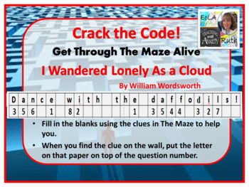 I Wandered Lonely as a Cloud | Kinesthetic Maze (Perfect for Earth Day!)