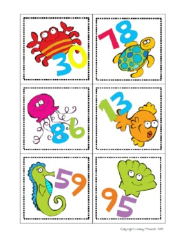 I Wanna Be Under The Sea - Math and Literacy Centers and Activities