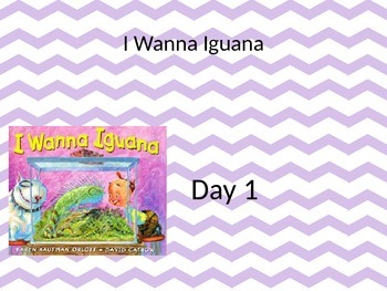 I Wanna Iguana Powerpoint and interactive notebook