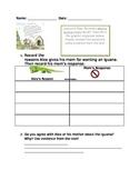 I Wanna Iguana Reading Response 2nd Grade
