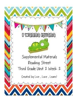 I Wanna Iguana Reading Street Third Grade CCS Aligned