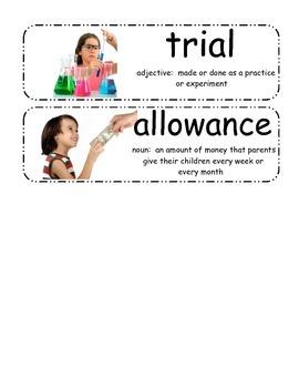 I Wanna Iguana Vocabulary Cards