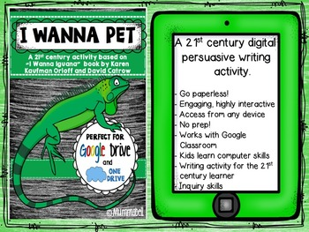 I Wanna Pet - Digital Persuasive Writing - a DIGITAL Google Drive resource