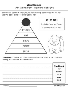 I Want My Hat Back Lesson Plans & Activities Package, First Grade (CCSS)