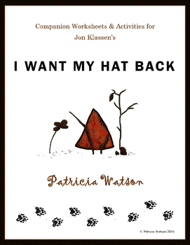 I Want My Hat Back Worksheets and Activities