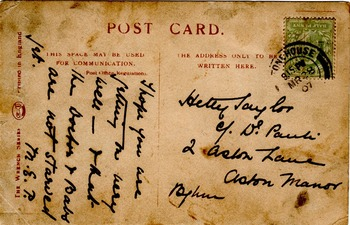 I Want My Ma !!!! A Photographic study of a Kitten-  postcard from 1907