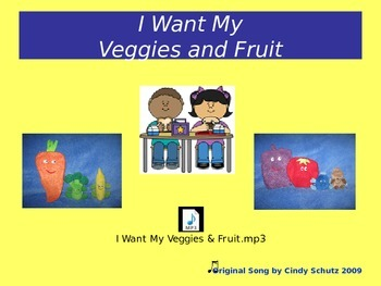 Healthy Eating - Veggies and Fruit Song (and activities)
