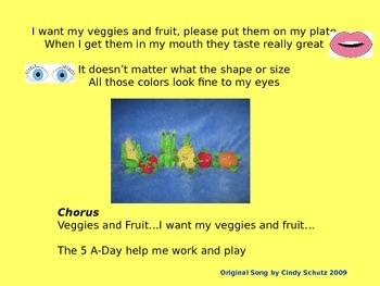 Eat Healthy - Veggies & Fruit Song (and activities)