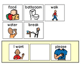 I Want... Visual Communication Sentence Strip for Special Education